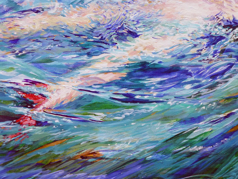 summer swimdetail 2013 acrylic 24x18