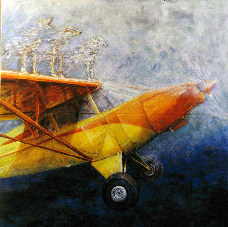 piper cubs 1991 acrylic 48x48