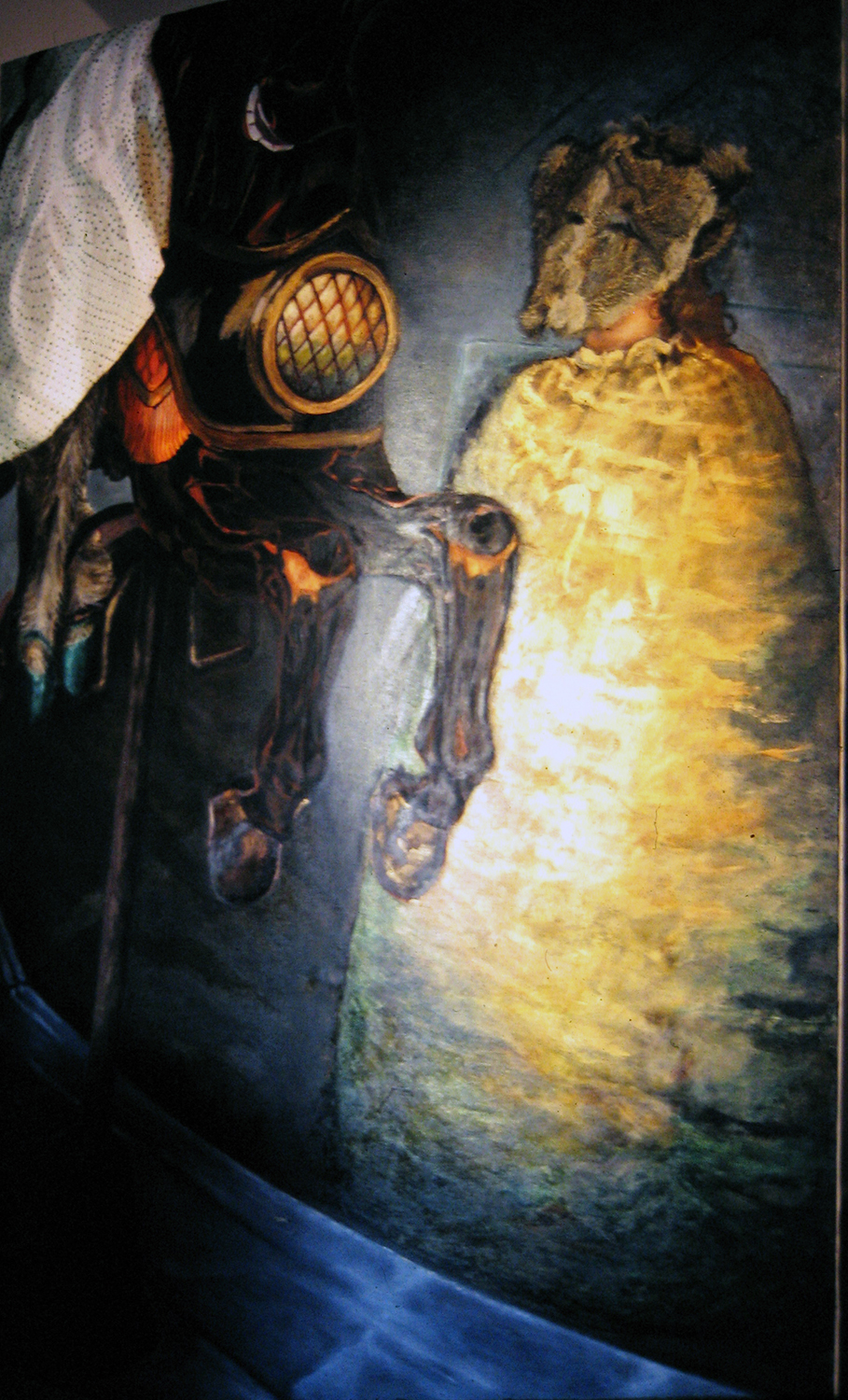 obscure rider 1979 oil on canvas on convex plywood 72x48
