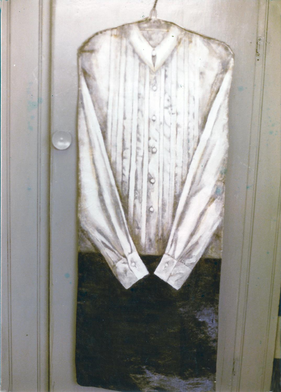 clothes #3 1978 oil 48x12