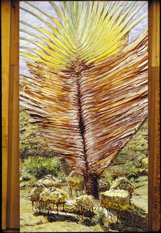 maharastra countryside 1985 oil 66x36