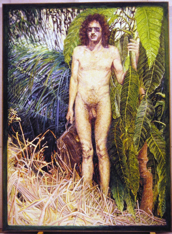 sanskirt scholar 1984 oil 70x51