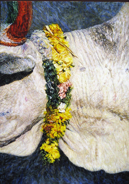 neck garland 1984 oil 45x27