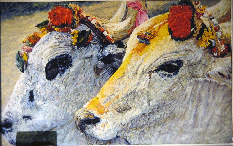 bullock portraits 1984 oil 27x45