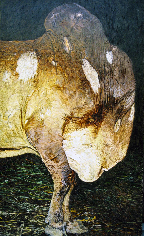 bullock head turned 1983 oil 65x36