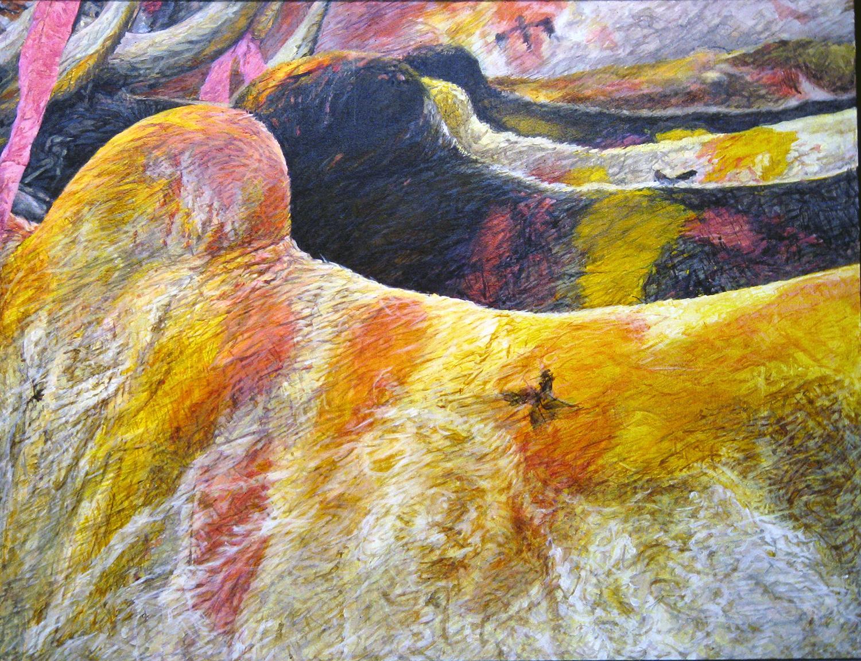 bullocks coloured 1983 oil 48x60