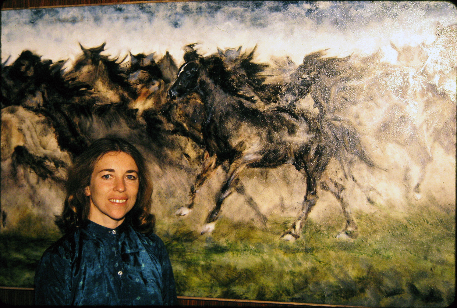 horse painting 1981 oil 36x42