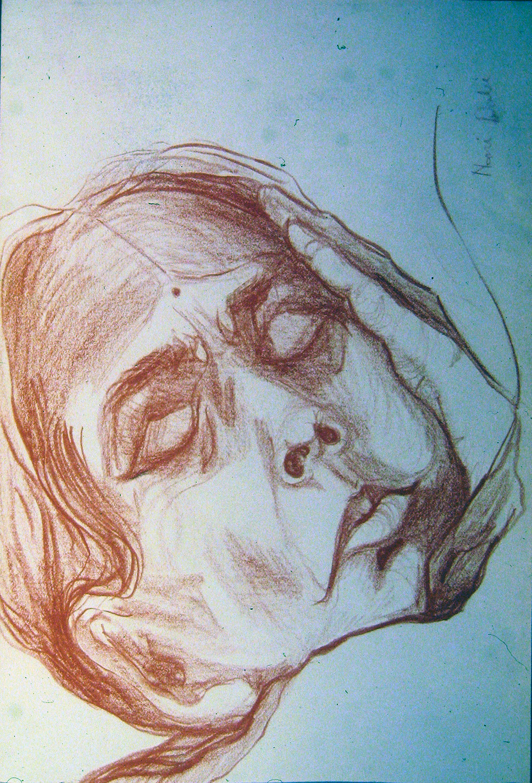 at mother theresa's hospital india 1972 pencil 9x12