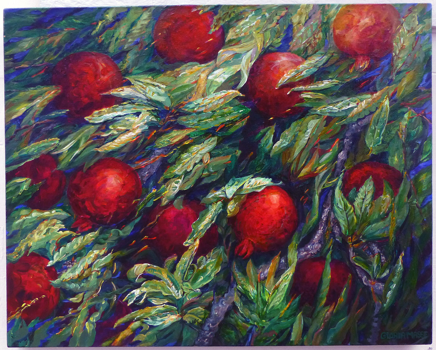 in a pomegranate tree number two 2011 acrylic 30x24