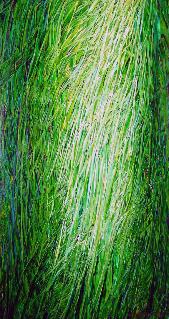 long grass 2001 oil on canvas 66x36