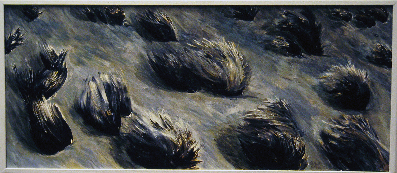tufted grasses 2 1992 acrylic 18x42