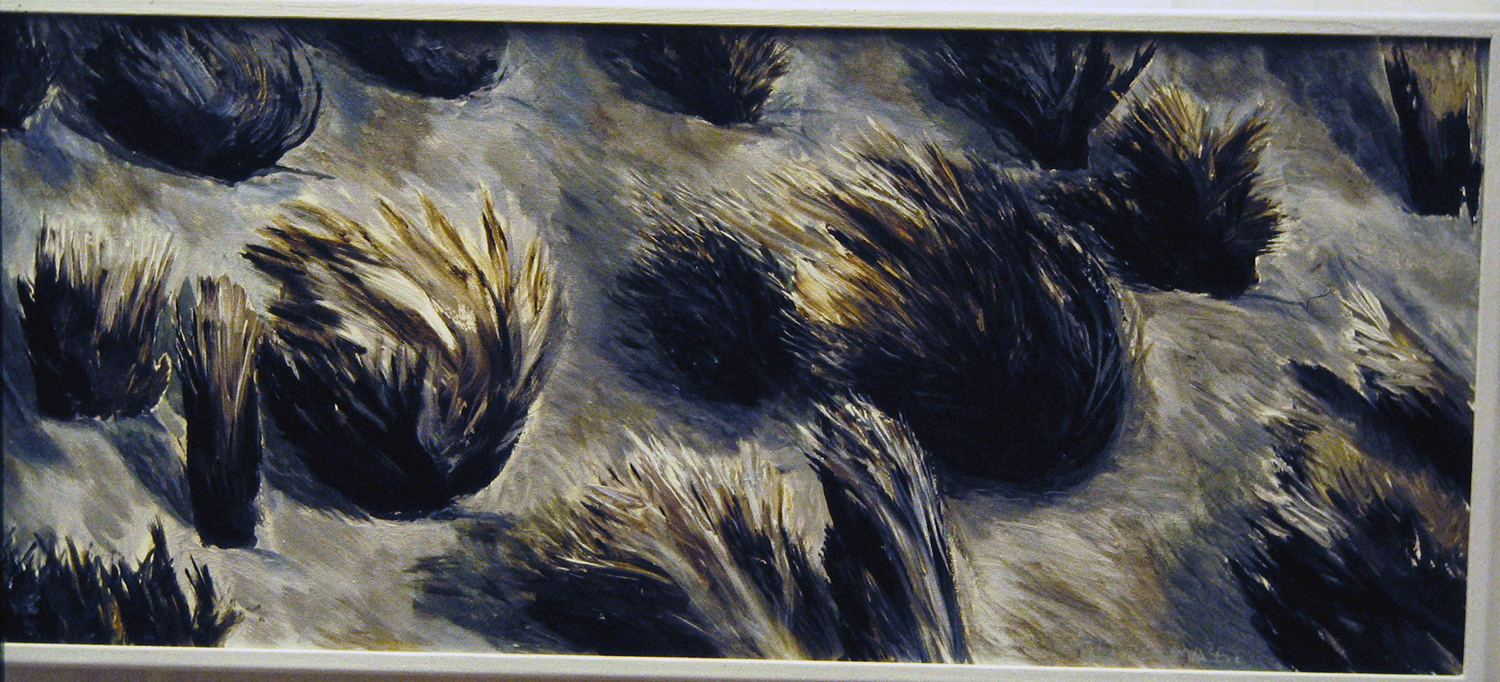 tufted grasses 1 1992 acrylic 18x42
