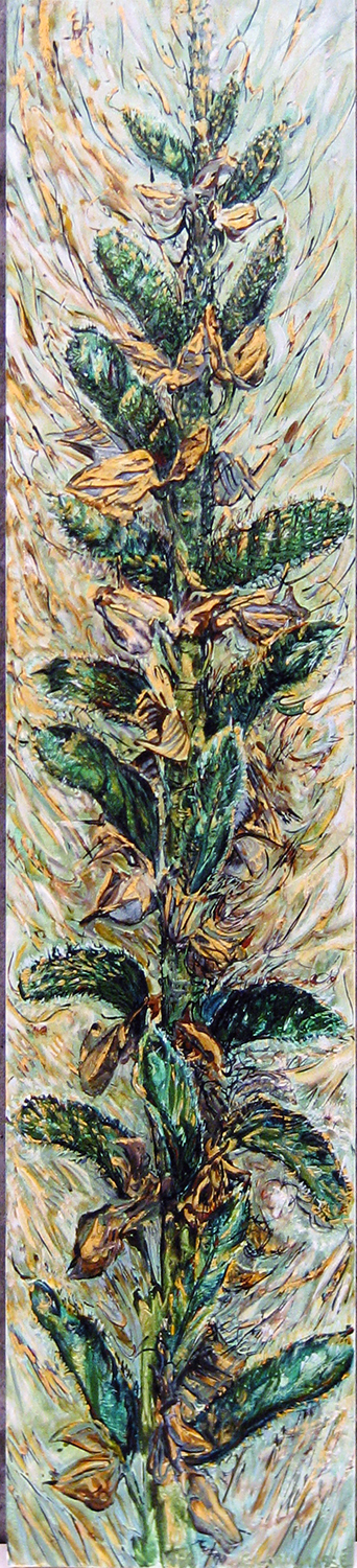 lupin pods green 1988 oil 72x42