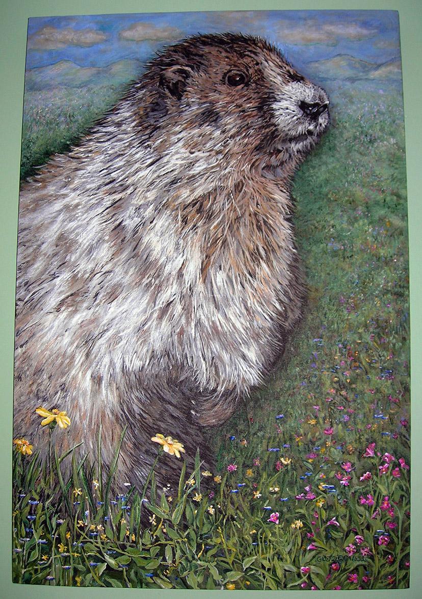 whistling marmot 2007 acrylic 24x30