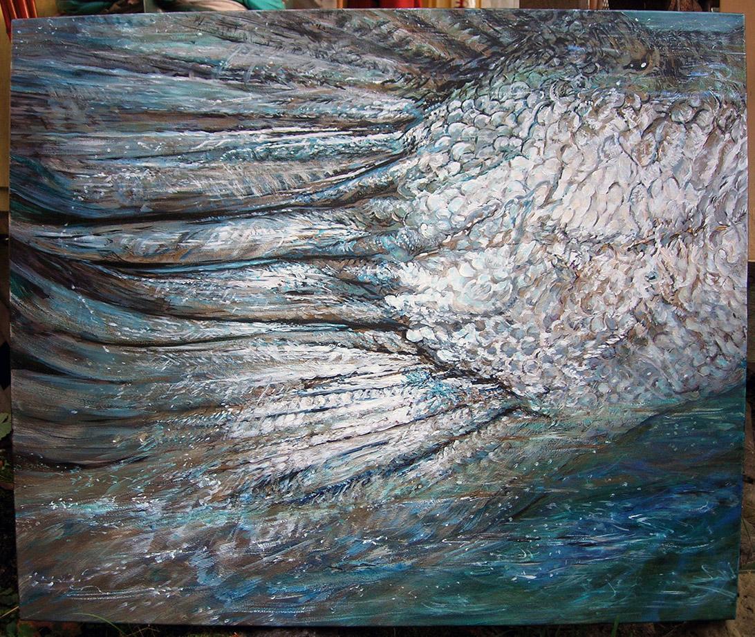 salmon passing 2005 acrylic 36x30