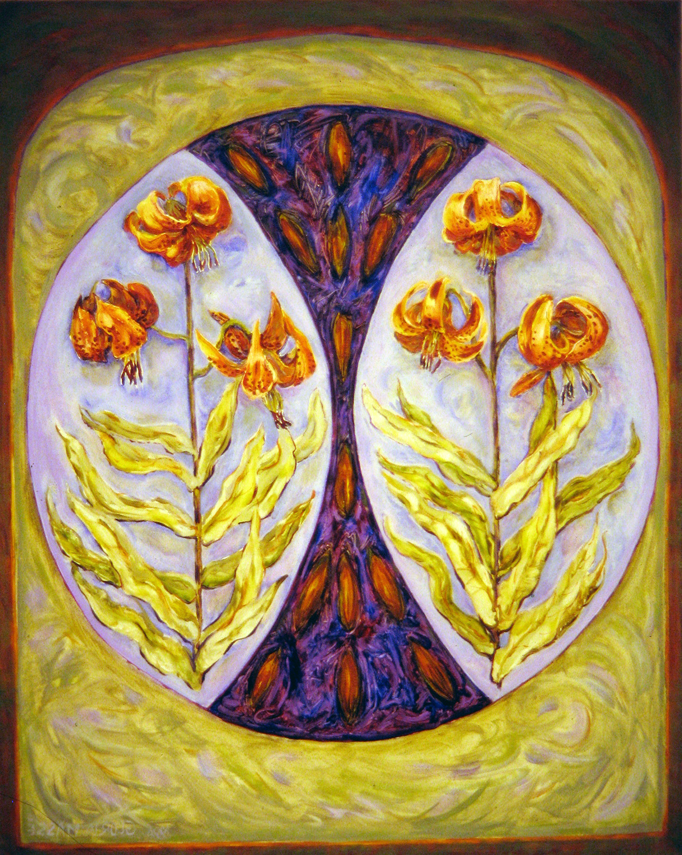 wild lilies 1996 oil 30x24