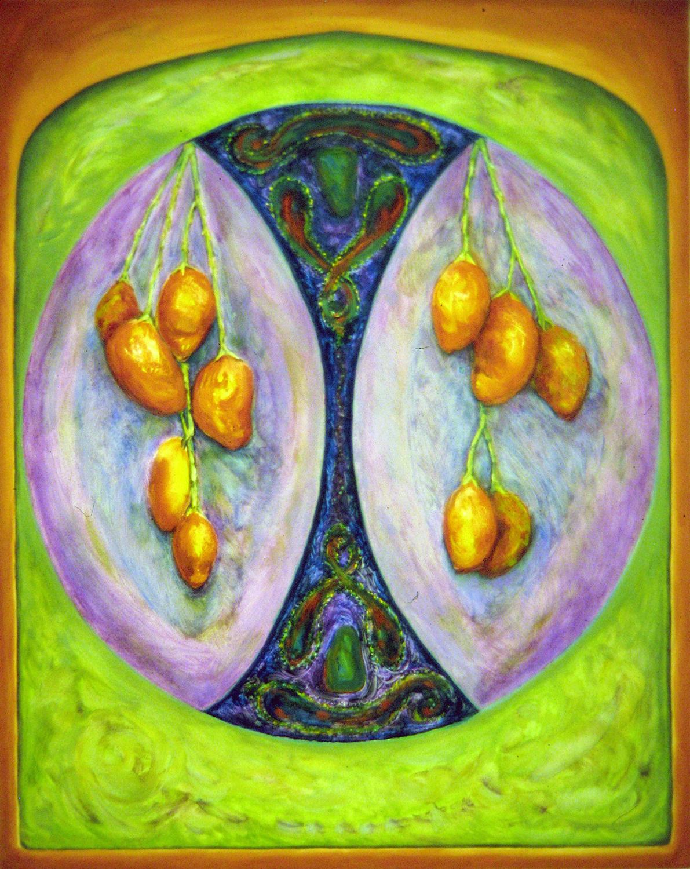 ripe mangoes 1996 oil 30x24