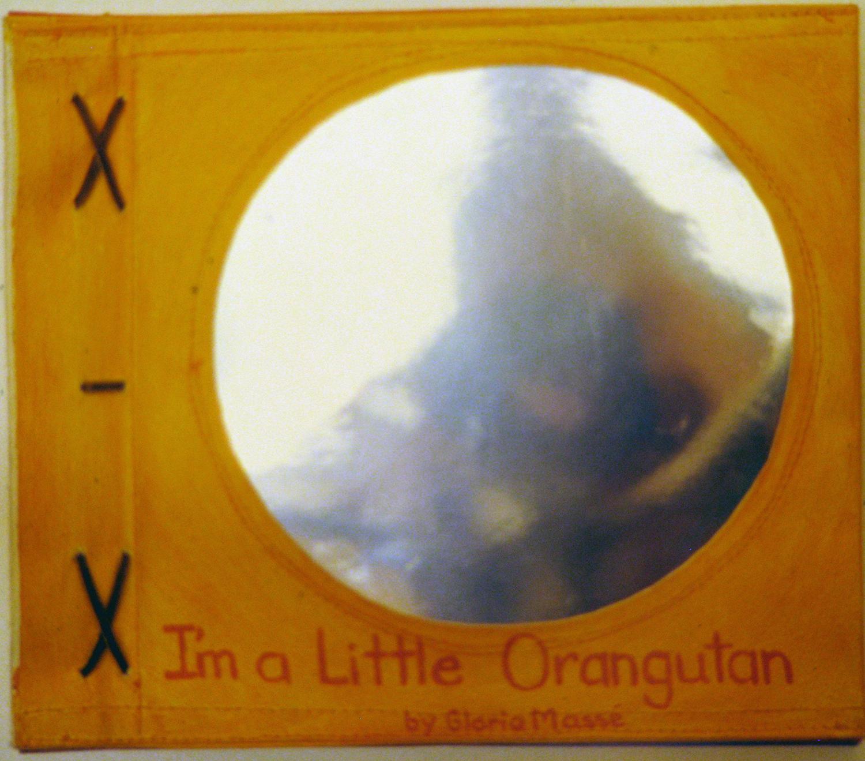i am a little orangutan book 7 cover 1996 acrylic on canvas 9x10