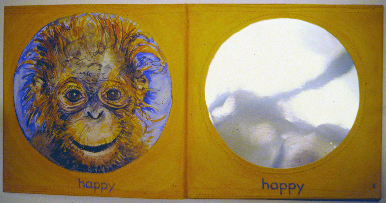i am a little orangutan book 6 happy 1996 acrylic on canvas 9x10