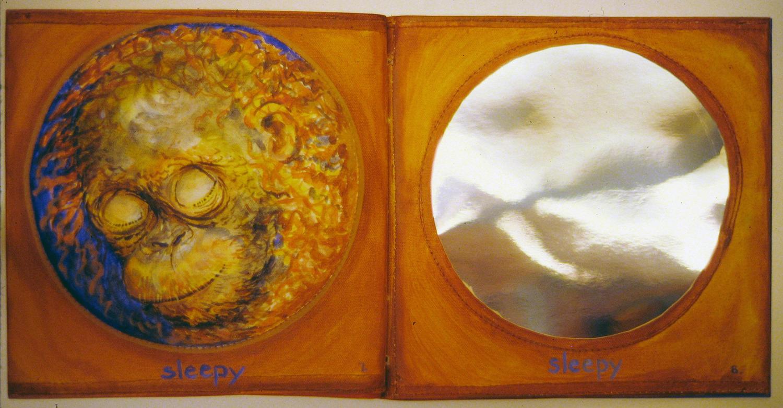 i am a little orangutan book 4 sleepy 1996 acrylic on canvas 9x10