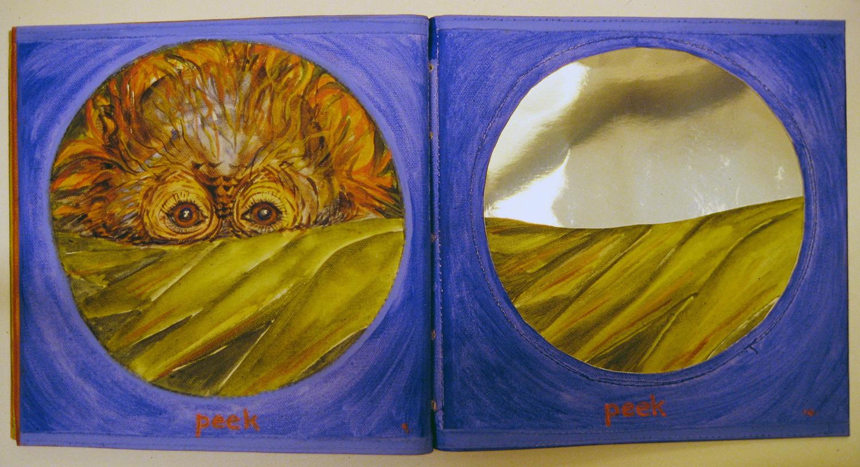 i am a little orangutan book 3 peek 1996 acrylic on canvas 9x10