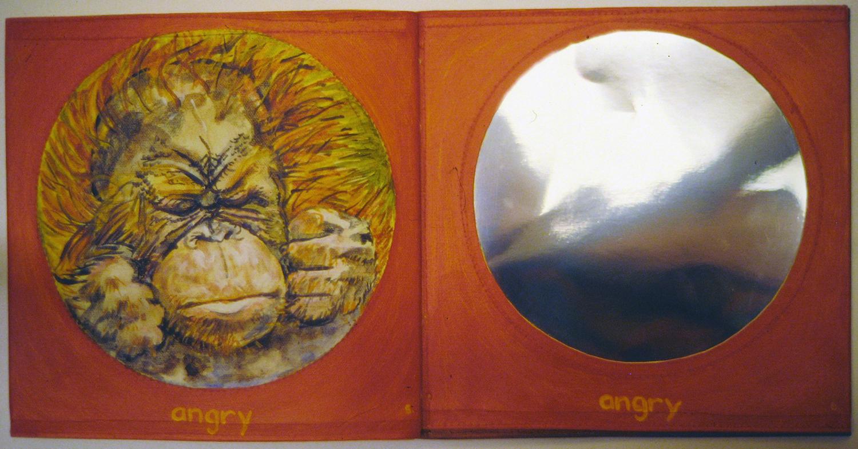 i am a little orangutan book 2 angry 1996 acrylic on canvas 9x10