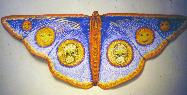butterfly 1996 acrylic on canvas 29x12