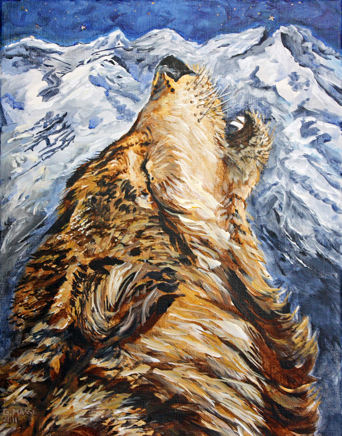 mountain howl 2011 acrylic 14x11
