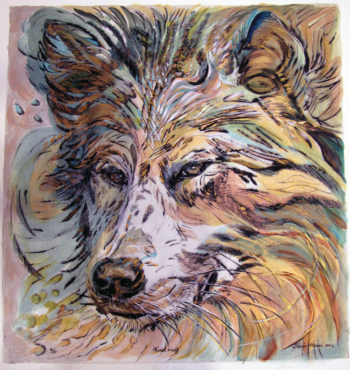 first wolf brown 2009 print 16x20