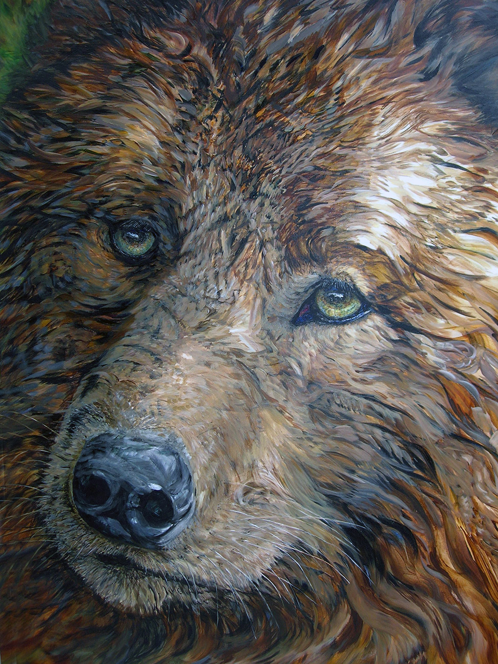 wolf-beauty and wonder 2006 acrylic 40x60