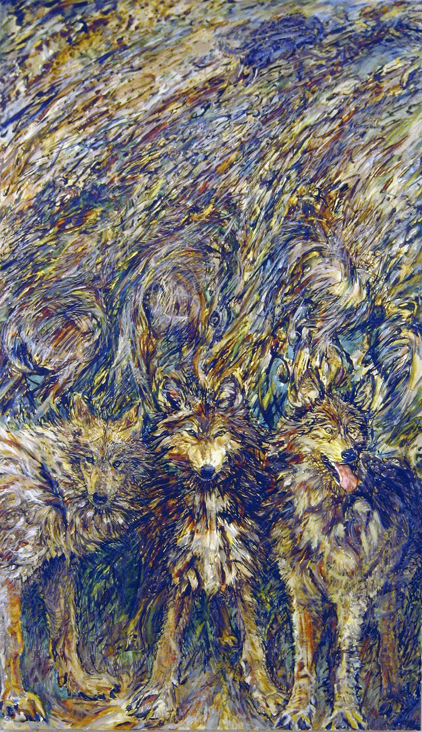 when wolves see you 1989 oil 72x42