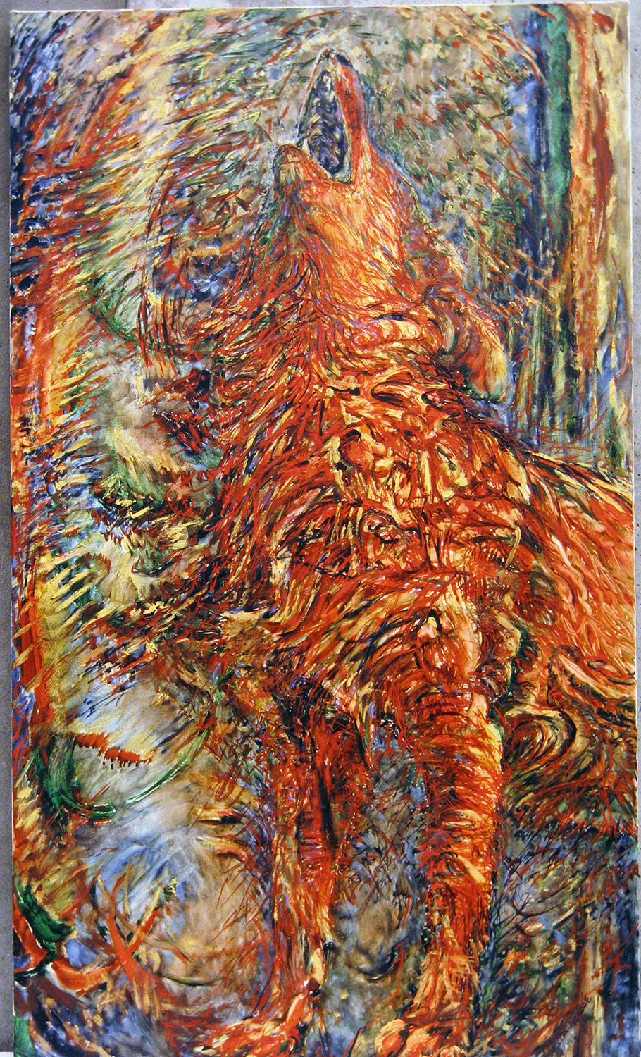 red howl 1988 oil 72x42