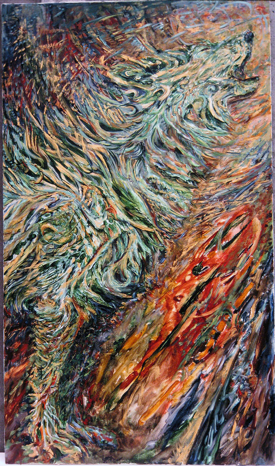 green howl 1988 oil 72x42