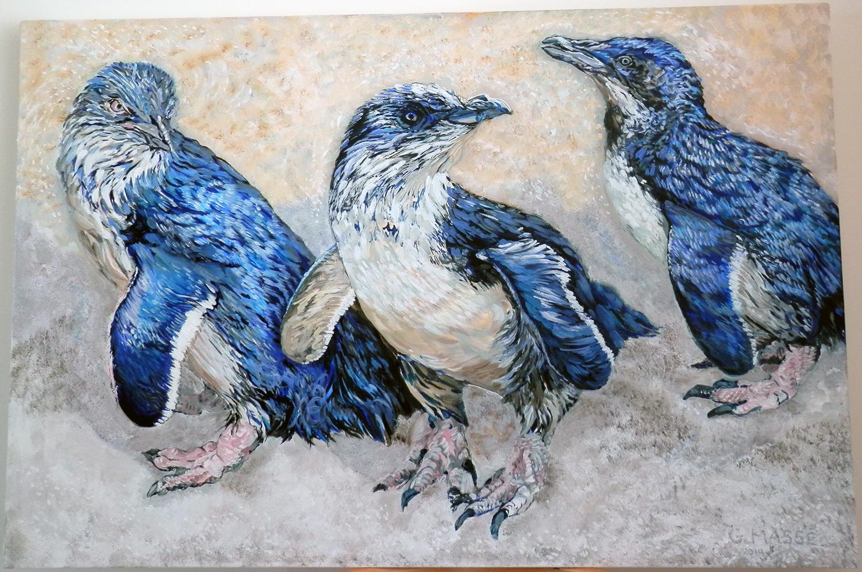 little blue penguins  2014 oil 36x24