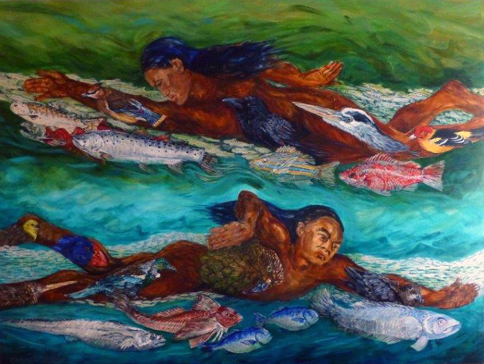 pacific currents 2014 acrylic 48x36