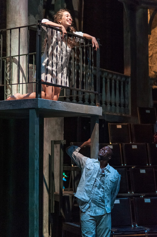 Juliet, Romeo and Juliet , Actors' Shakespeare Project (Boston) with Jason Bowen* as Romeo  Photo by Stratton McCrady