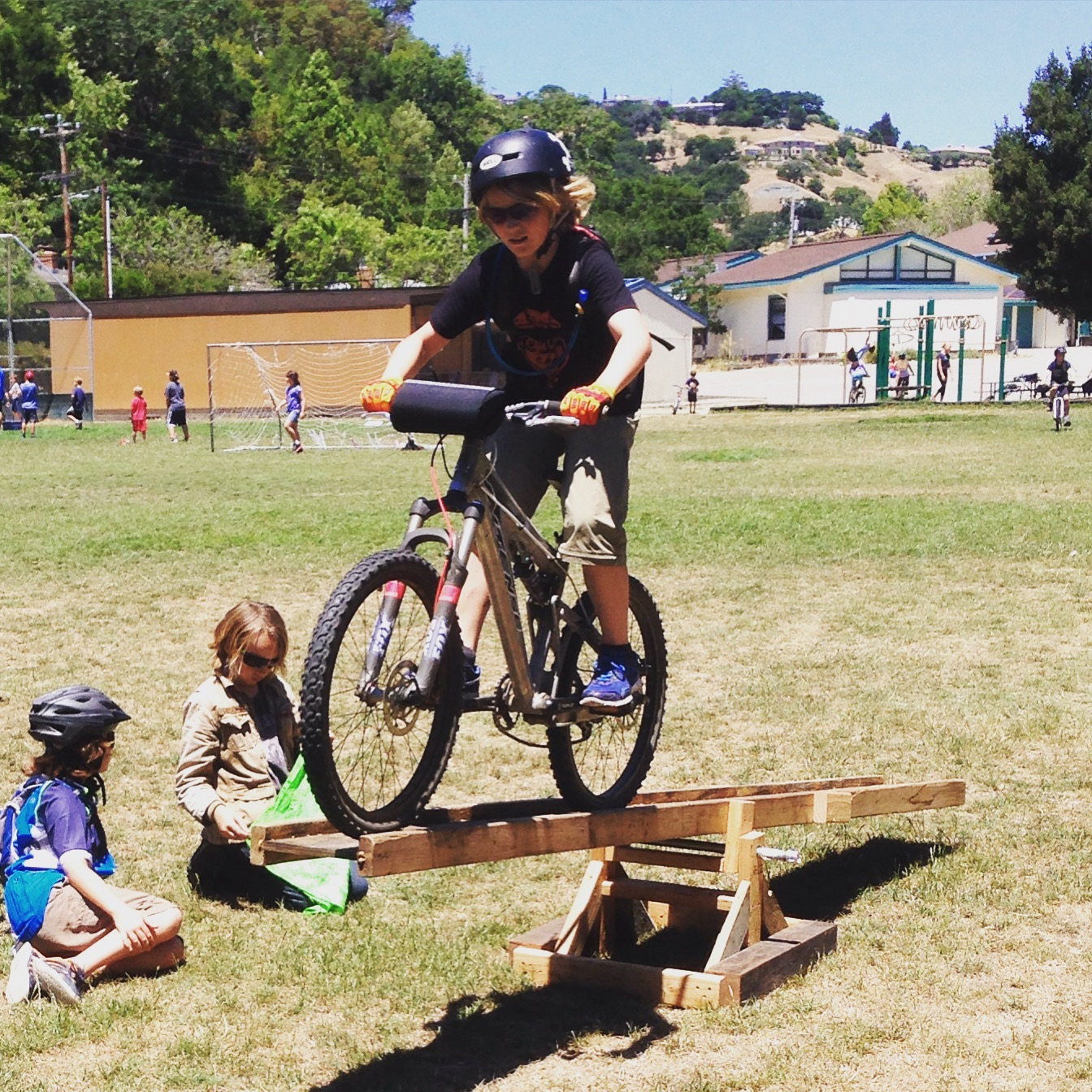 Improving balance and gettin' rad on the teeter totter.