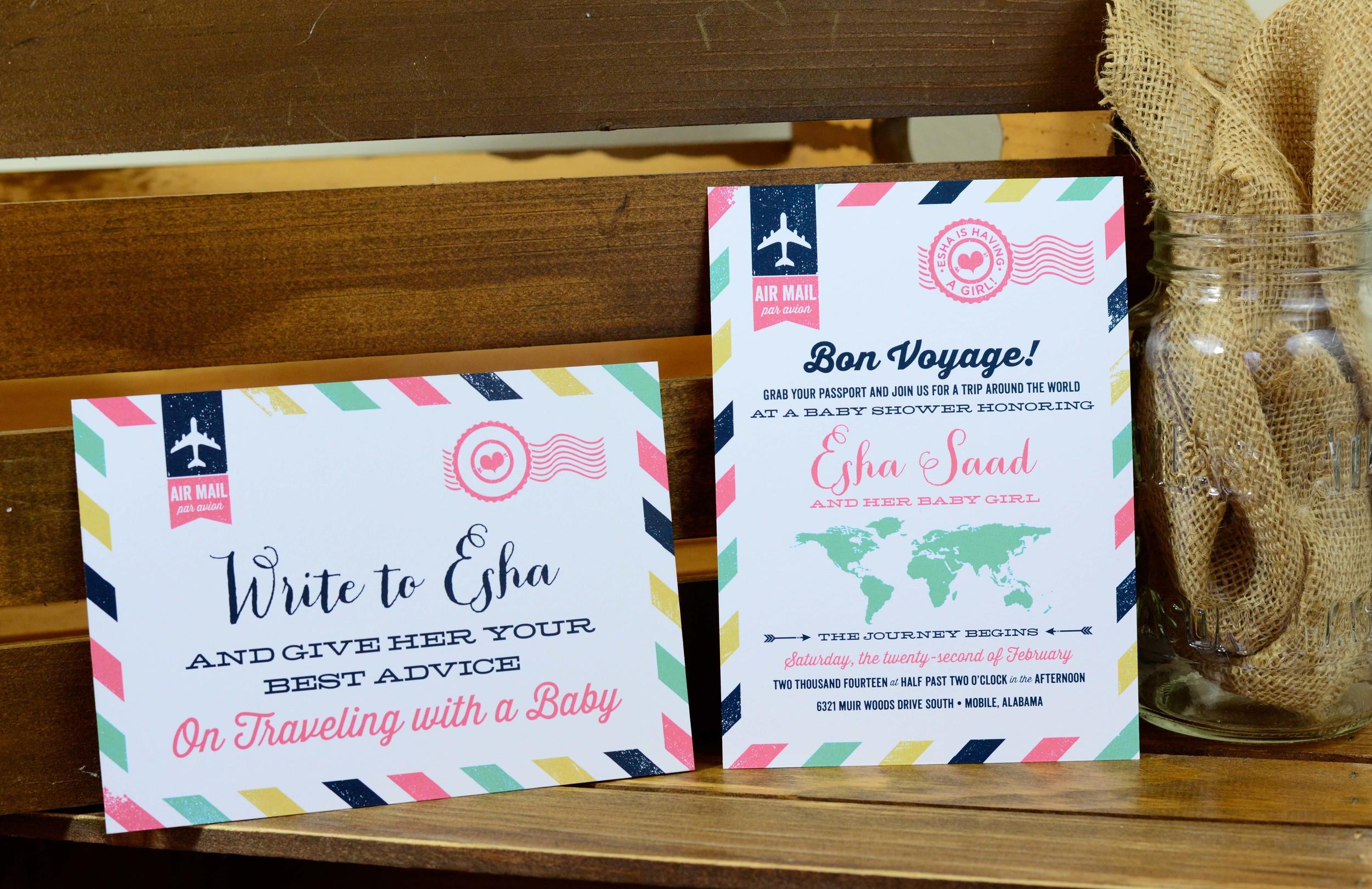 Custom Baby Shower Invitation & Coordinating Signage