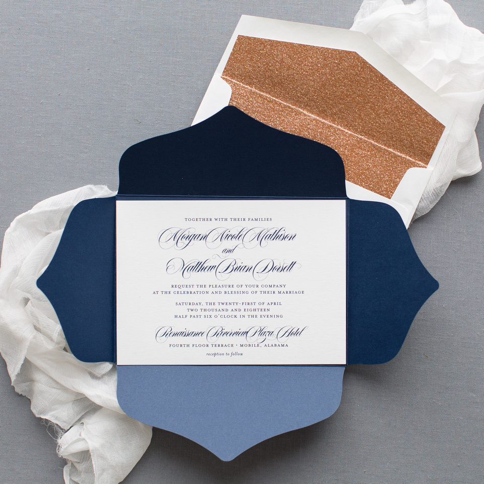 Digital/Flat Invitations with Envelope Liners