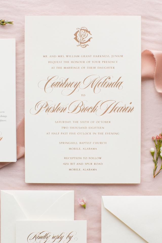 Copper / Bronze Foil Invitations
