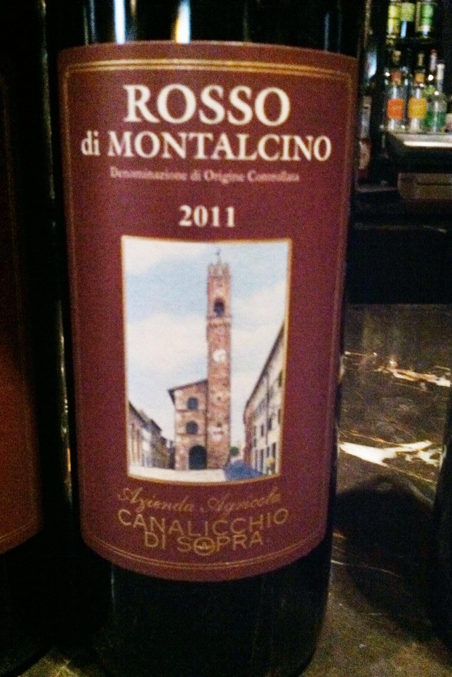Rosso di Montalcimo, photo by Shana Sokol of Shana Speaks Wine