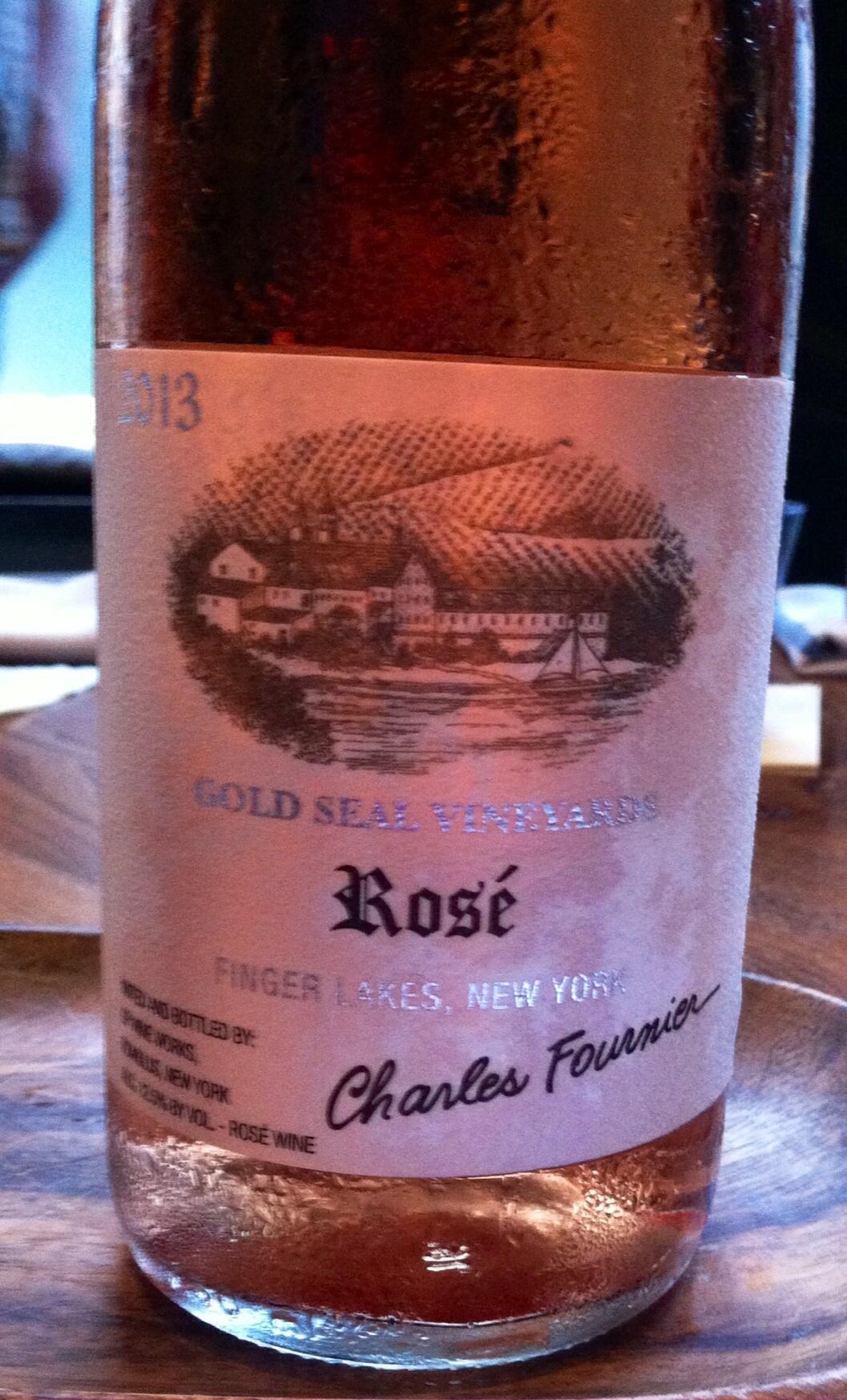 Charles Fournier, Gold Seal Vineyards, Rose, Finger Lakes, 2013. Photo by Shana Sokol, Shana Speaks Wine