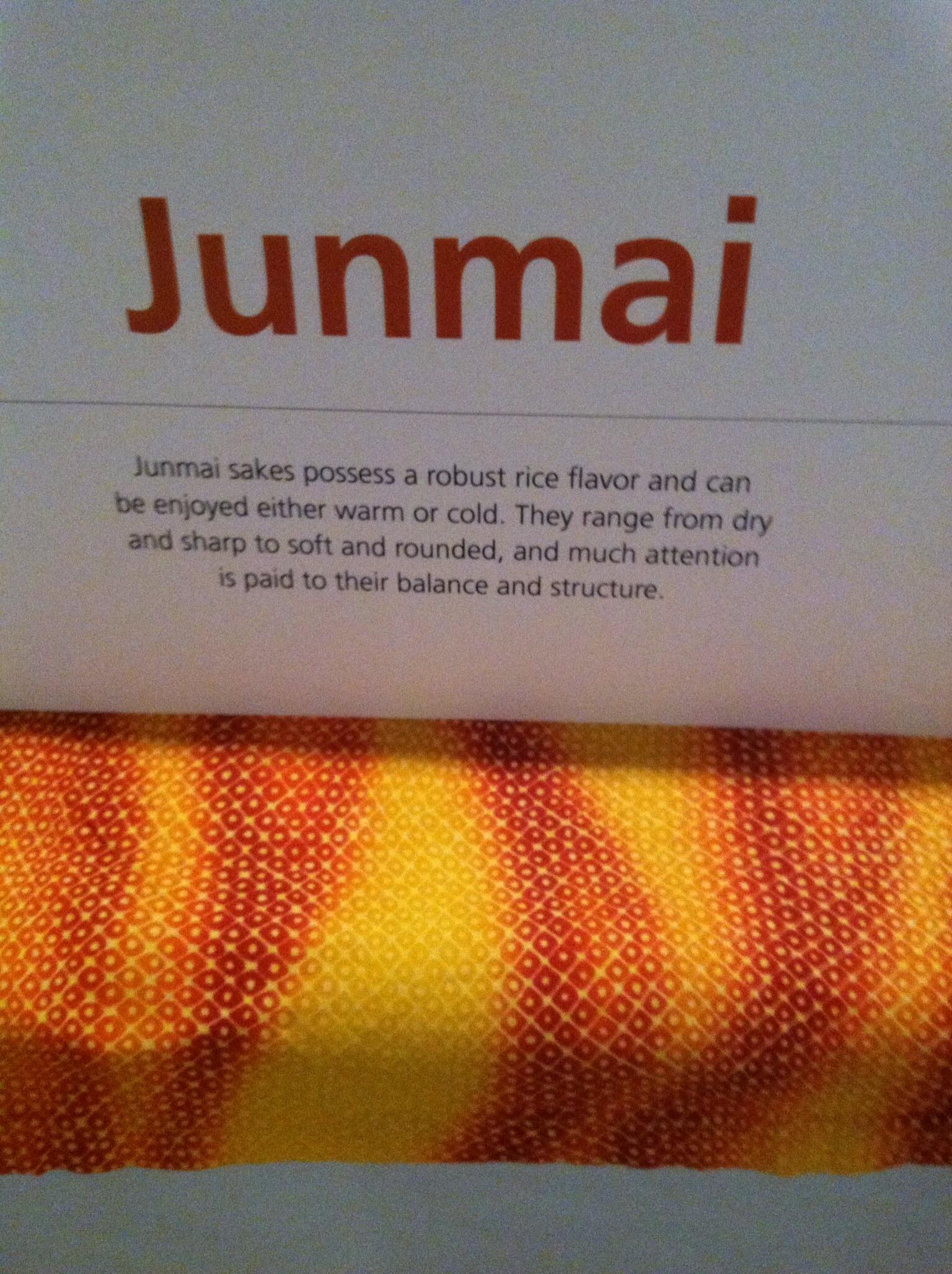 Junmai sake. Photo by Shana Sokol, Shana Speaks Wine.
