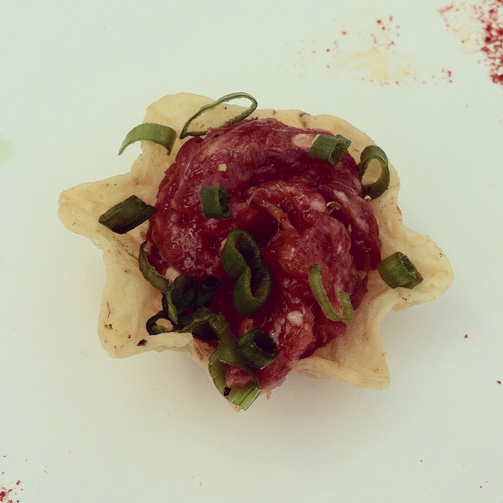 Lamb tartare.  Photo by Shana Sokol, Shana Speaks Wine.