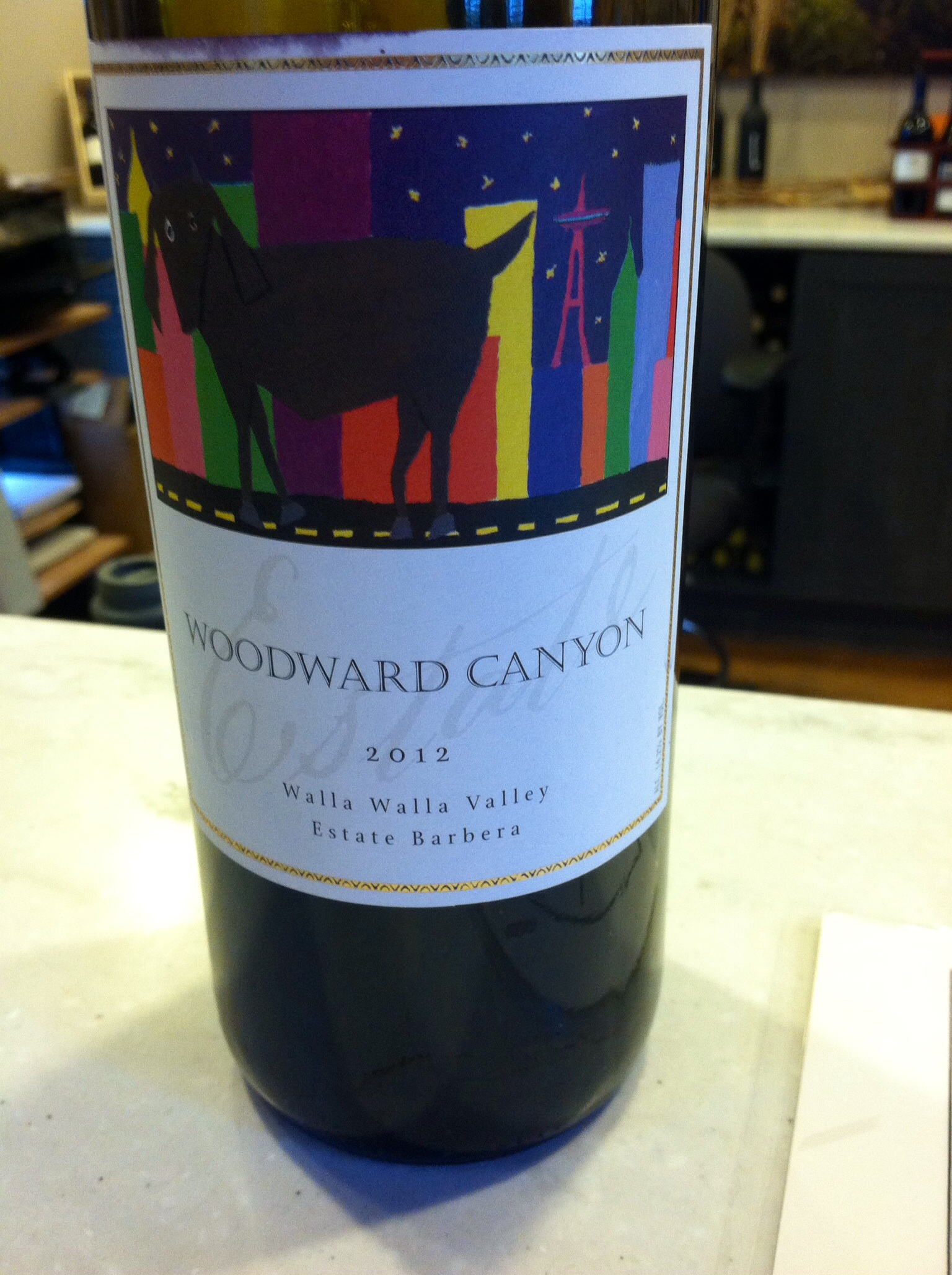 Woodward Canyon's Barbera.  Photo by Shana Sokol, Shana Speaks Wine.