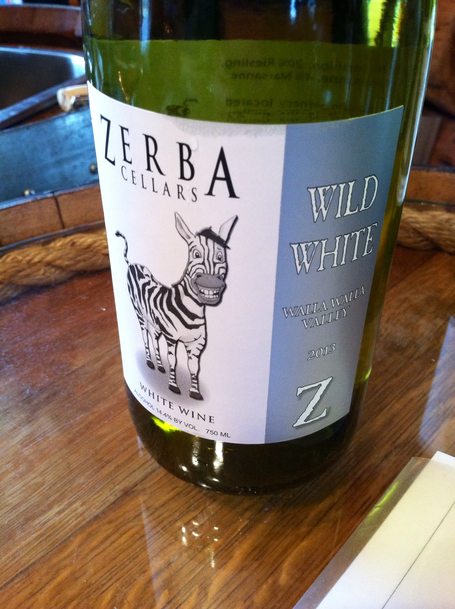Zerba Cellars Wild White.  Photo by Shana Sokol, Shana Speaks Wine.