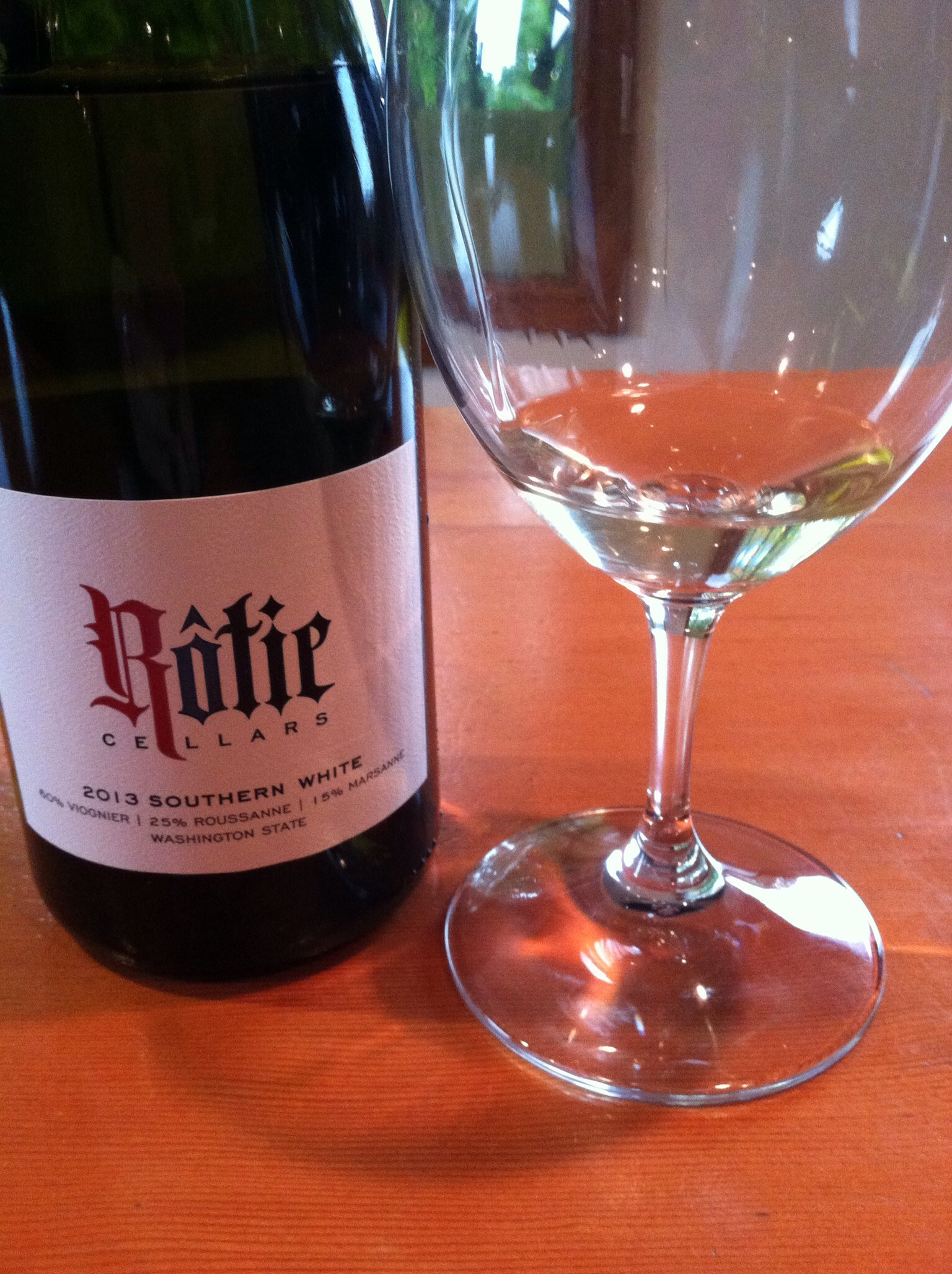 Rotie Cellars Southern White, 2013.  Photo by Shana Sokol, Shana Speaks WIne.