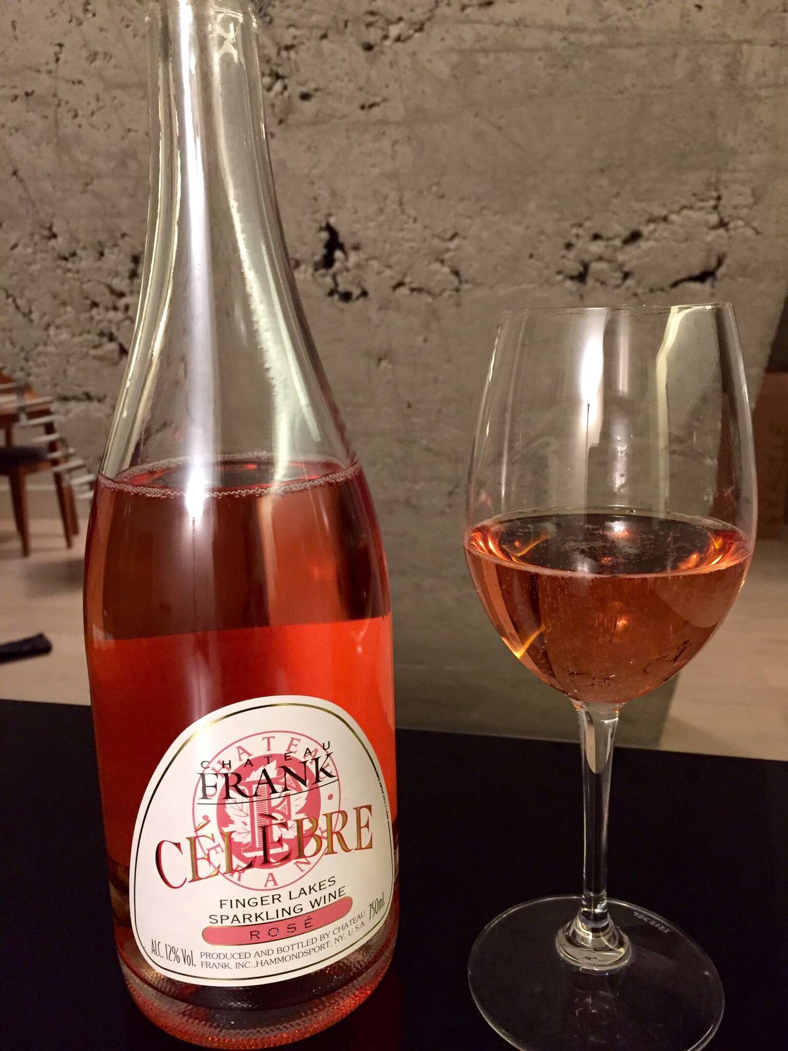Chateau Frank Celebre Rose, Finger Lakes, NY, NY. Photo by Shana Sokol, Shana Speaks Wine.