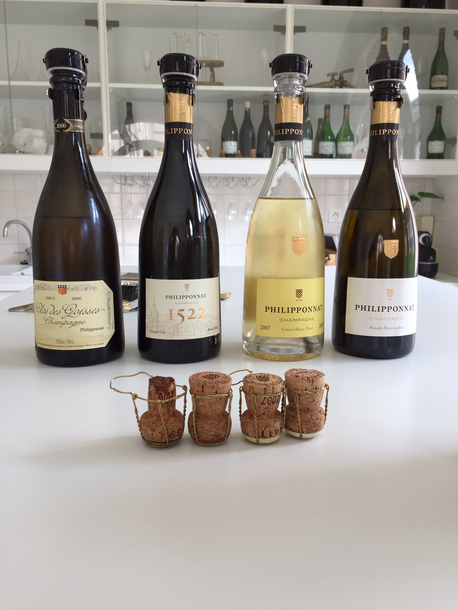 Several Philipponat wines.  All were spectacular, by the way.  Photo by Shana Sokol, Shana Speaks Wine.