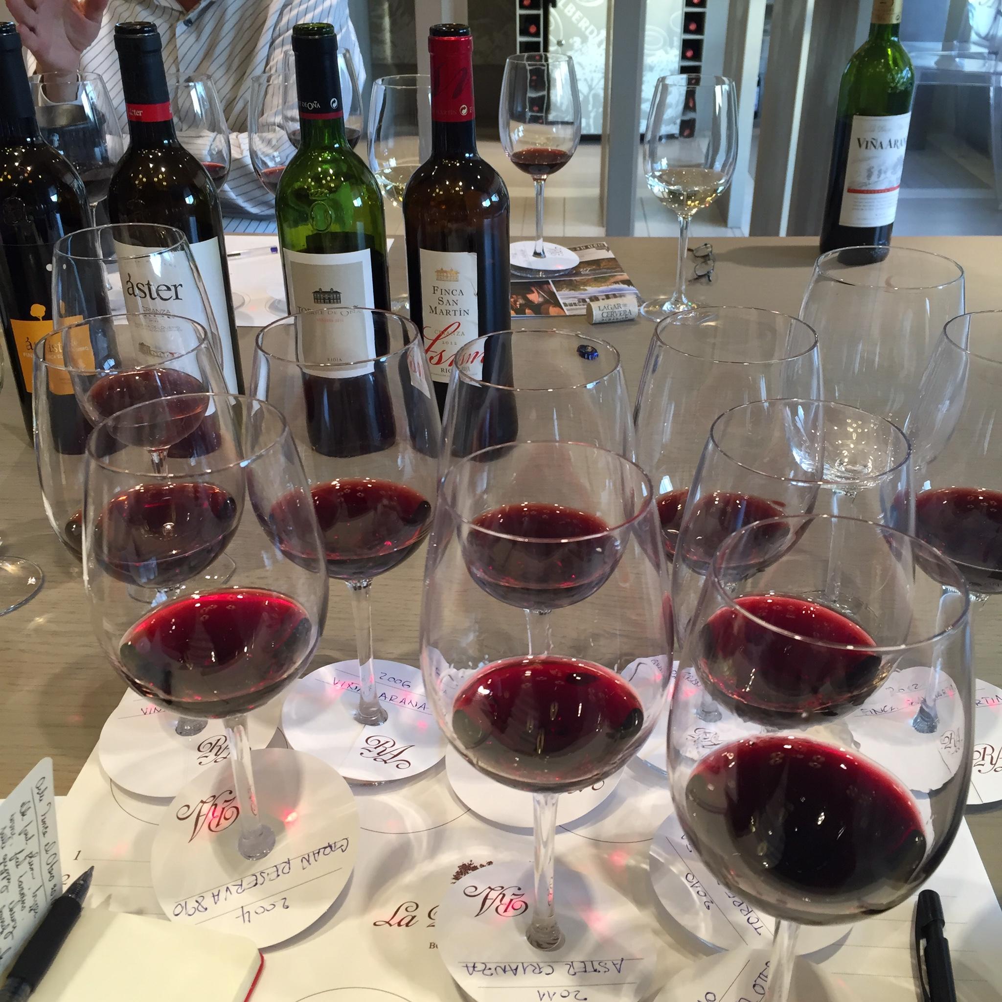 Tasting at la Rioja Alta